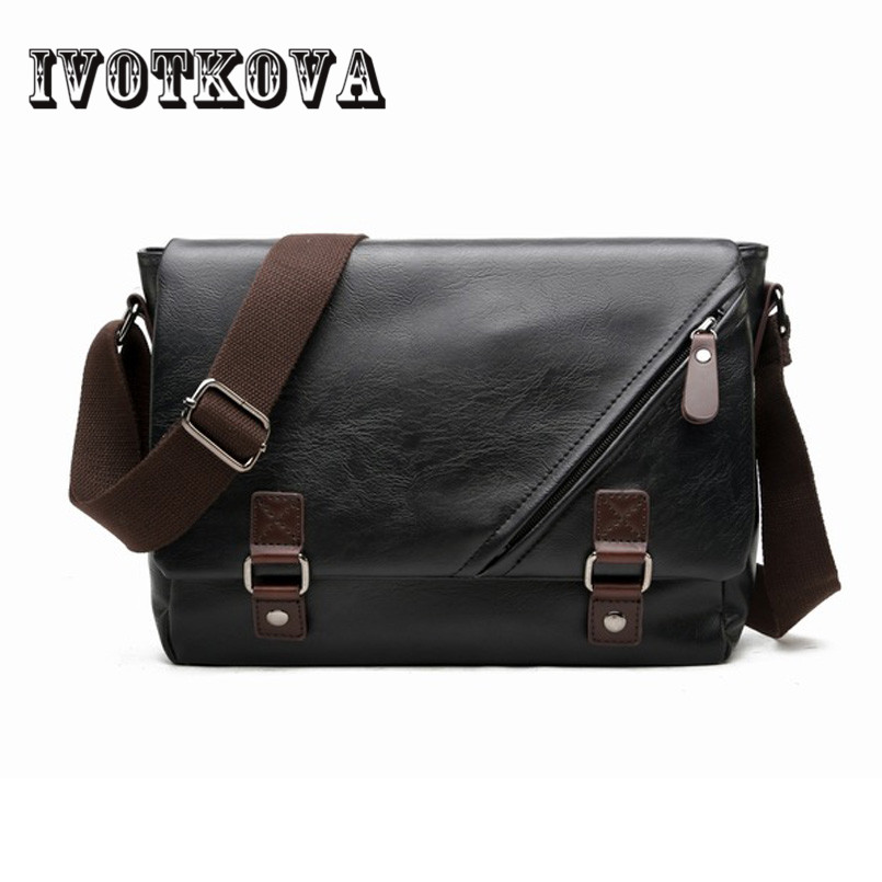 IVOTKOVA Brand Quality Crossbody BAG MEN Handbag Anti-theft Magnetic Clasp Pu Leather Messenger Bag Fashion Mens Bags ...