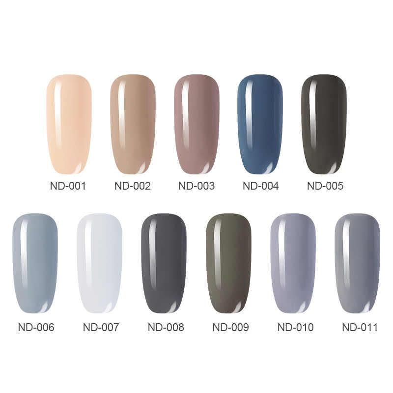 NICOLE DIARY One-step Nail Polish UV Gel  Gray Red Series Glitter Soak Off Gel Lacquer No Need Base Top Coat Nail Art DIY
