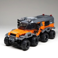 529pcs 8x8 ATV Technic Car Model Building Blocks Bricks Toys 23006 Hatchback 23012 Arakawa Compatible with legoINGly