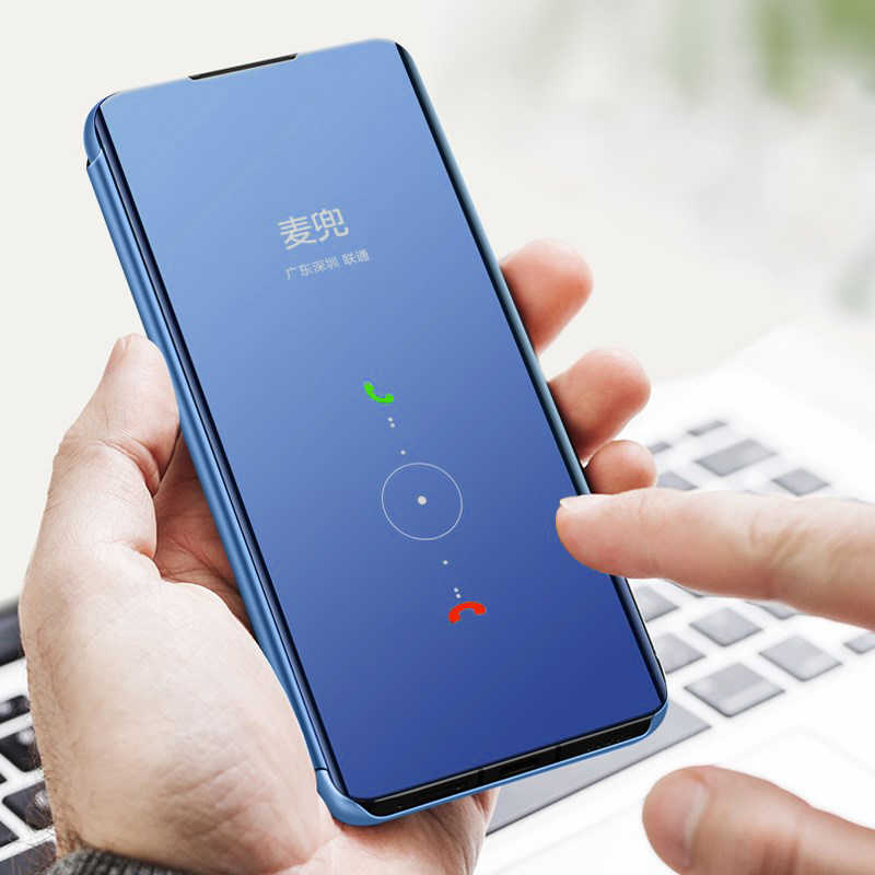 Ayna Flip Samsung kılıfı Galaxy A30 A70 A40 Akıllı Kanca Kapak Samsung A50 a20e 30 40 50 70 50a 30a 70a 2019 standı Funda