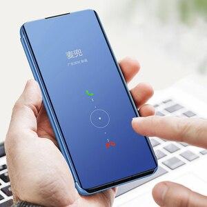 Image 4 - Spiegel Flip Fall Für Samsung Galaxy A30 A70 A40 Smart Buch Abdeckung für Samsung A50 a20e EINE 30 40 50 70 50a 30a 70a 2019 stehen Funda