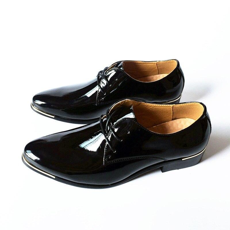 Mariage bleu Derby Chaussures Mode rouge 022 Pointu En marron D'affaires Nouvelle Cuir blanc Bout Noir Appartements Verni Printemps Hommes Décontractée Homme De Arrivée w1IxHqa