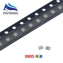 4000pcs SMD 0805 (2012) RGB smd led 0805 led דיודה 2.0*1.2mm אדום & ירוק & כחול שבב led R2.0 2.2V BG3.0 3.5V(CE & ראש)