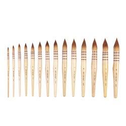 15RT Высокое качество Корея таклон волосы деревянная ручка художественная краска кисти художественная Акварельная Кисть ручка для рисовани...