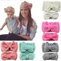 Hand-knitted crochet wool headband solid color soft and comfortable knit bow headband paternity wholesale hair accessories