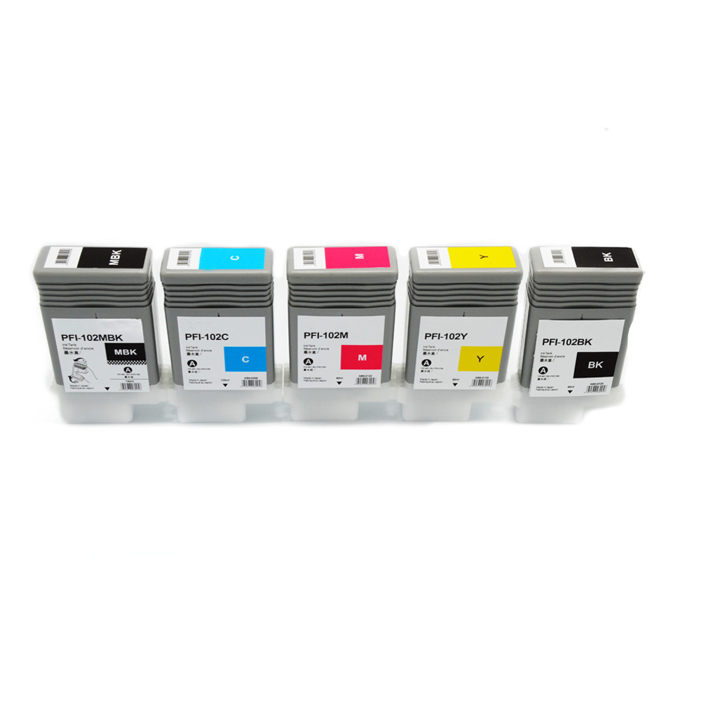 PFI-102MBK Matte Black Ink Tank for Canon Plotter wide format printer 500 600 700 Models IPF 510 iPF610 iPF710 iPF605 iPF720 canon pfi 206 mbk matte black