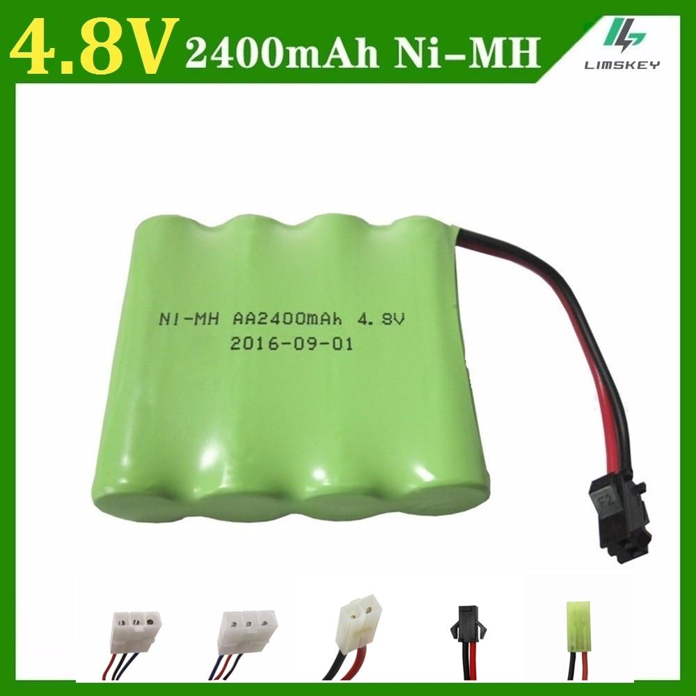 4,8 V 2400 mAh de juguete de Control remoto de iluminación eléctrica iluminación de las instalaciones de seguridad 4 * AA Ni-MH batería Juguetes RC de la batería grupo