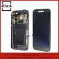 Lcd cor cinza para samsung galaxy note2 n7100 lcd screen display toque digitador assembléia com frame, frete Grátis