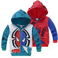 Boys Spiderman Zipper Coat Hoodies Children Clothing Spider-man Jacket Clothes Kids Long Sleeved Toddler Hooded vetement garcon