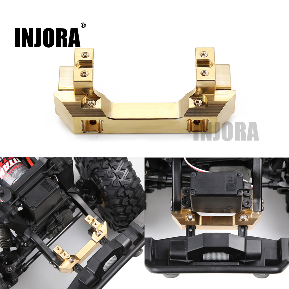 New Copper TRX4 Front Servo Stand for 1/10 RC Crawler Car Traxxas TRX-4 TRX 4 Upgrade Parts mxfans black aluminum alloy 8271 1 upgrade parts wheel rims for traxxas trx 4 rc 1 10 rock crawler car pack of 4