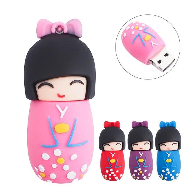Cute Japanese Girl Kimono usb flash drive 4g 8g 16g 32g 64g