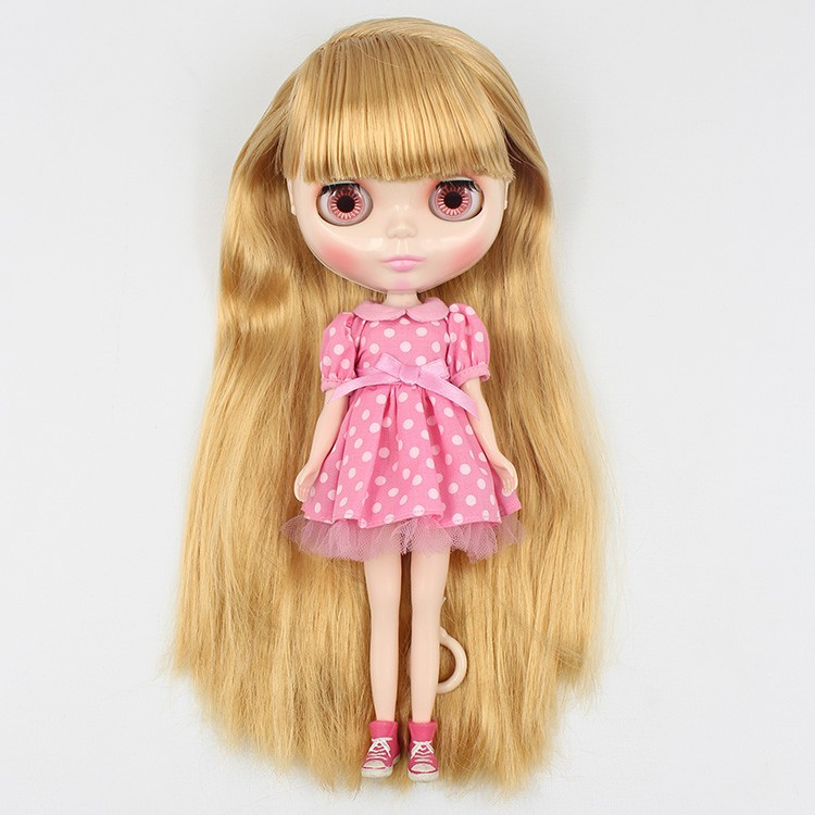 ICY Nude Factory Blyth Doll Serires No BL0736 Light goldenhair with bangs Suitable For DIY Change