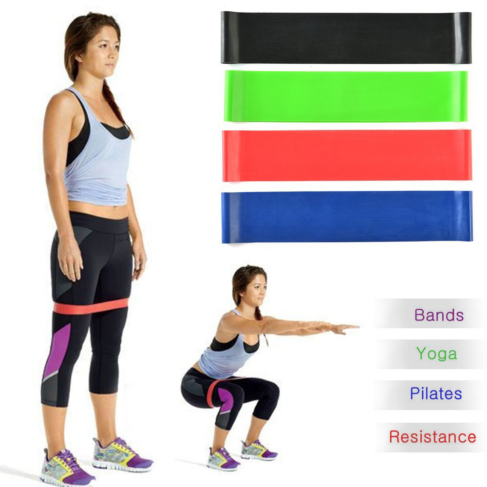 Exercise Resistance Loop Bands Fitness Stretch-Elastic Power Weight Bands-Set of 4 Strength Performance Bands