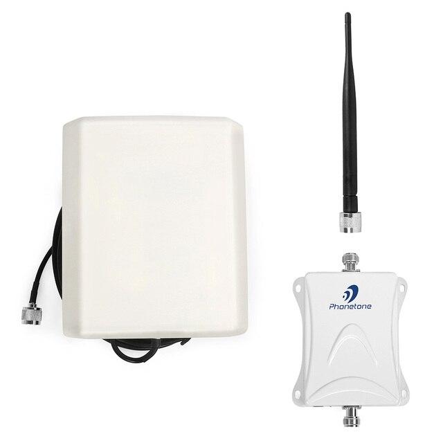 Amplificador GSM 3g alto ganho 80dB 850 mhz cdma telefone celular repetidor de sinal de celular com anjo indoor & ao ar livre painel de antenas