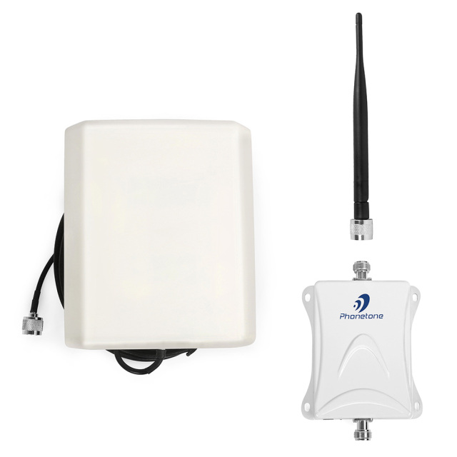 GSM amplifier 3g high gain 80dB cellular 850mhz cdma cell phone signal repeater with indoor angel & outdoor panel antennas