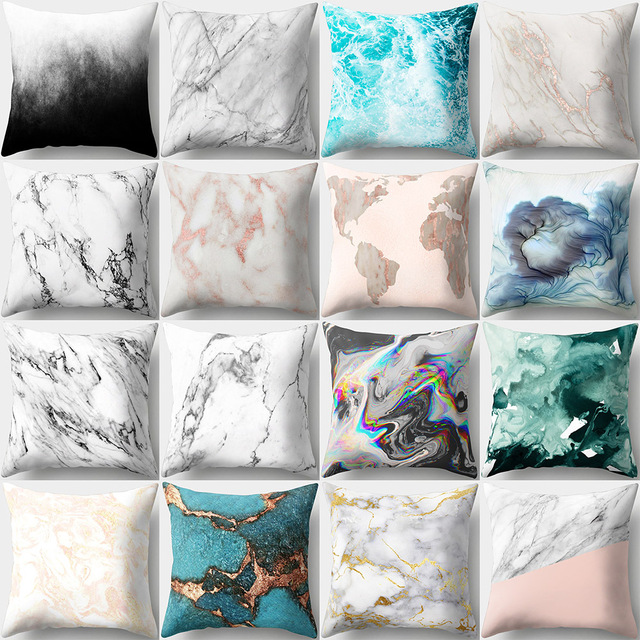 Marble Textured Decorative Pillow Cover