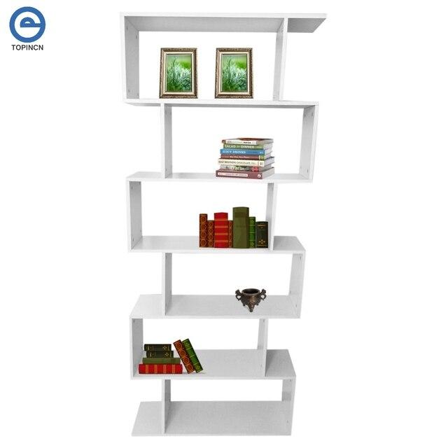 6 niveau tiers boek plank unit kubus opslag boekenkast display moderne home boekenplank stand rack