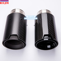 1 PCS BLACK M Performance Akrapovic carbon fiber Exhaust Tip for BMW Series M3 M4 M5 2012 car styling car exhaust
