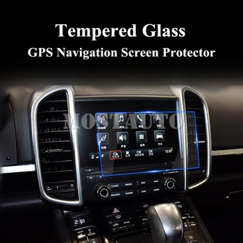 For Porsche Cayenne Tempered Glass GPS Navigation Screen Protector 2016-2017 1pcs Car Accessories Interior Car Decor Car Trim image