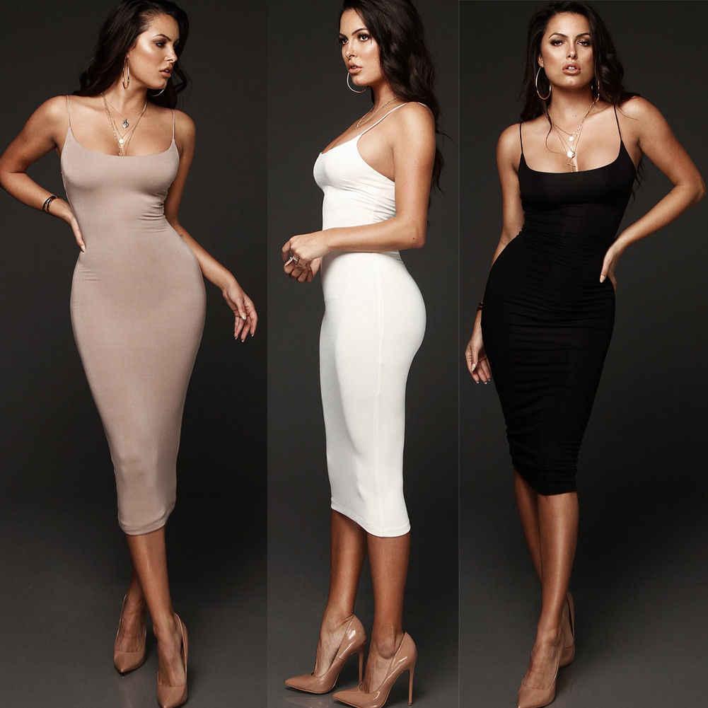 Phụ nữ Bodycon Slim Ngắn Midi Dress Evening Đảng Sexy Ladies Clubwear Pencil Ăn Mặc