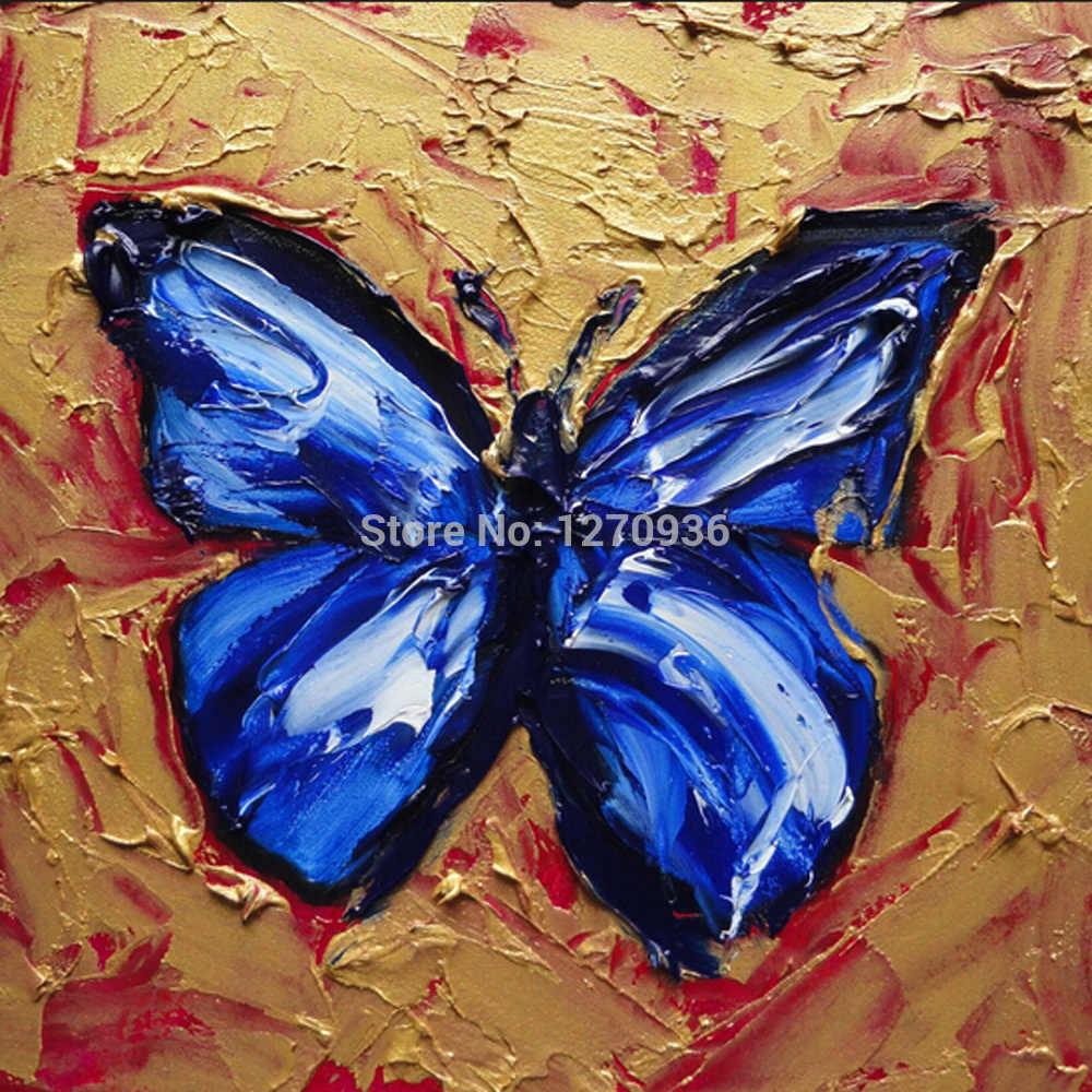 ビッグ卸売 dafen 油絵村最高価格高品質手作りナイフ蝶の油絵装飾用