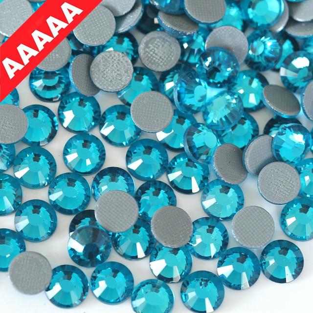 AAAAA Luxury Hot Fix Rhinestone Peocock Blue ss6 ss10 ss16 ss20 ss30 Flatback  Crystal Hotfix Strass 7d34a6700e28