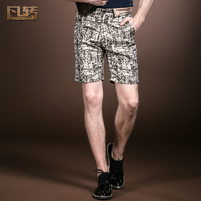 Free Shipping Fashion Casual Men's Male New Summer Personality Palace Shorts Original Design Straight Trousers 14903 On Sale