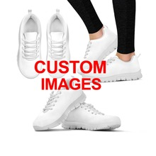 INSTANTARTS Для женщин кроссовки Симпатичные кроссовки с героями мультфильмов женщина спорта на открытом воздухе обувь для бега для студенток 3D Пользовательские печати прогулочная обувь