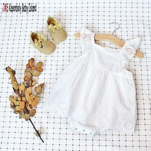 Kasenbely baby JMS Summer white rompers cotton