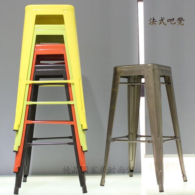Industrial metal bar stool bar stool bar stool IKEA home iron metal bar  stool chair 75CM