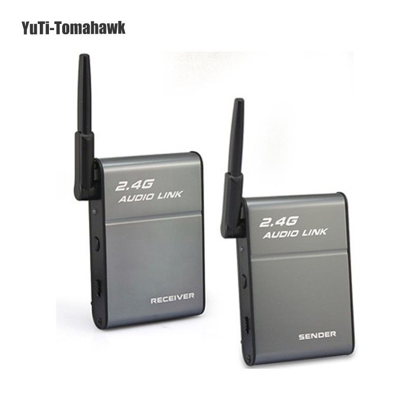 2.4G Audio Music Stereo 50M wireless audio Transmitter and receiver wireless HIFI Music Link for PC/tablet/phone - Boosters