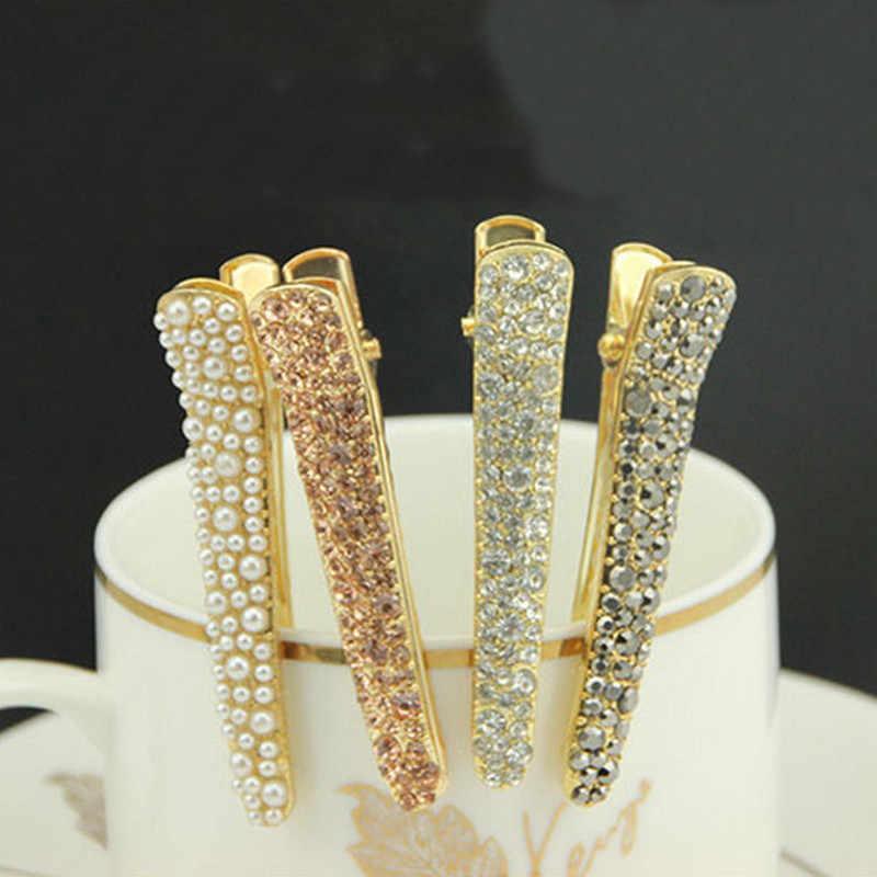 1 шт Bling Crystal шпильки заколка для волос Головные уборы для Для женщин брошь из горного хрусталя для девочек контакты заколка Инструменты для укладки аксессуары 4 Цвета