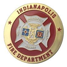 Вся поставка золотое покрытие город Индианаполис пожарный отдел наградная монета/медаль 1339