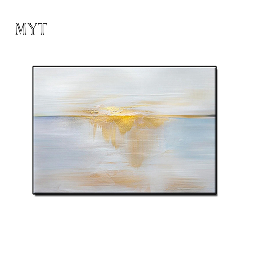 MYT Simple Design Concept Abstract Handpainted Paintings Reproductions On The Wall Art Canvas Pictures For Living Room