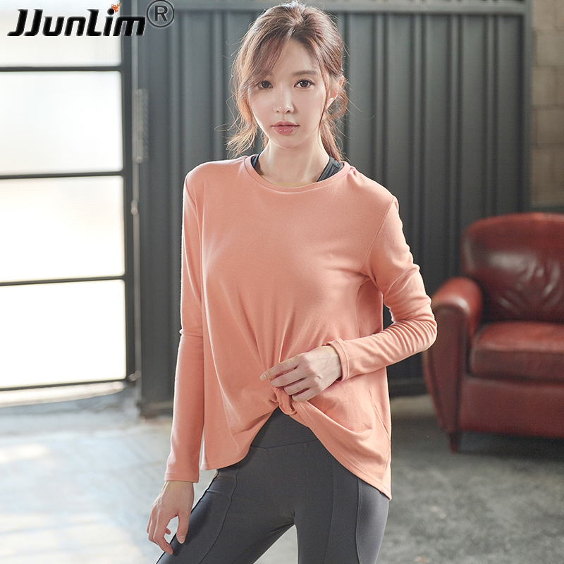Women Long Sleeve Shirt For Fitness Loose Yoga Top Sport Running Shirts Women Jersey Sport Fitness Gym Workout Top Yoga Shirts