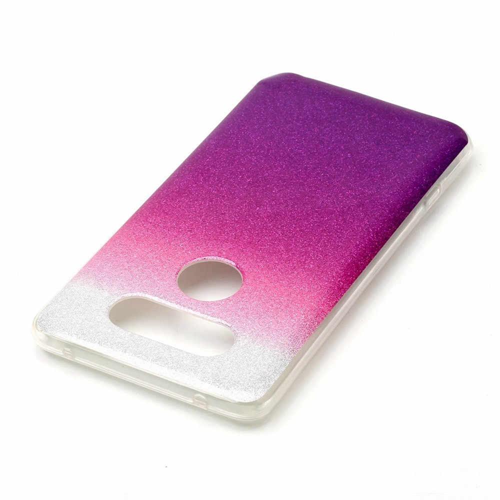 Новый подарок Блестящий Мягкий градиентный цветной чехол Blink для LG V20 против царапин легкий чехол для смартфона telefon knil【flm