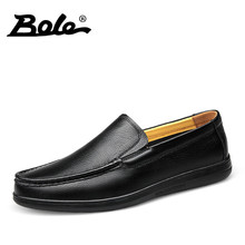 BOLE 36-46 Large Size Men Loafers Handmade Moccasins Shoes High Quality Slip On Breathable Shoes Fashion Walking Shoes Men Flats