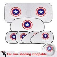2018New 6pcs Set Car Sunshade Sets Sunscreen Sun Shading Board Car Window Solar Protection Baffle Car