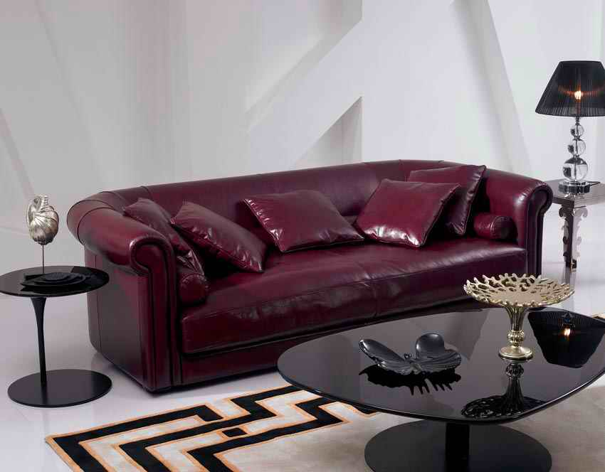 Chesterfield Sofa Living-Room-Furniture European-Style Genuine-Leather Set Modern