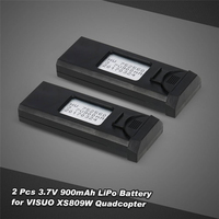 6Pcs Nice 3.7V 900mAh Rechargeable LiPo Battery for VISUO XS809 XS809HC XS809HW XS809W FPV RC Quadcopter Drone spare parts