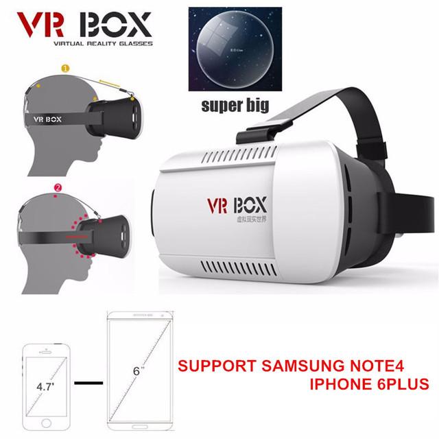 Hot 3D VR Óculos Caixa fone de Ouvido Cartão-board Fenda Cabeça Montar Filmes Jogos de Realidade Virtual para 4.7-6.0 Polegada Telefone