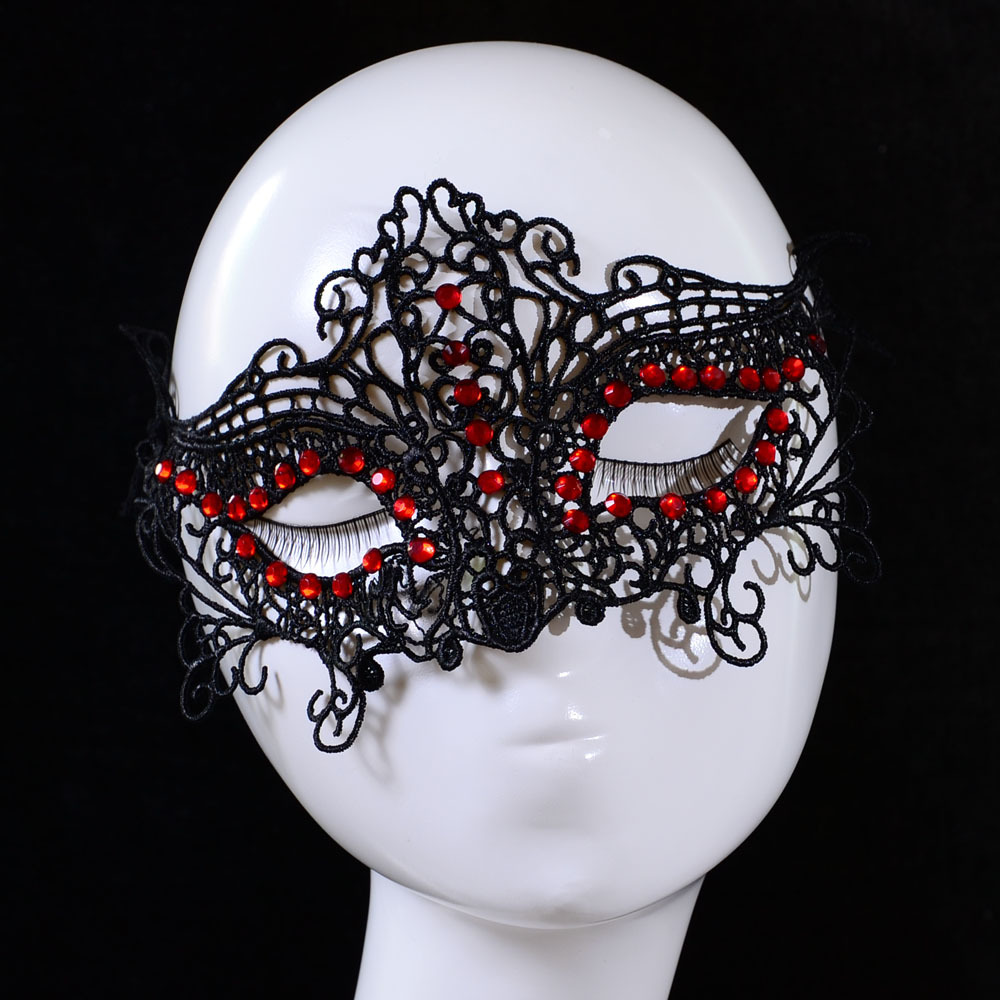 Aliexpress.com : Buy 1 Pc Red Crystal Mask Sexy Lace Adults Ladies ...
