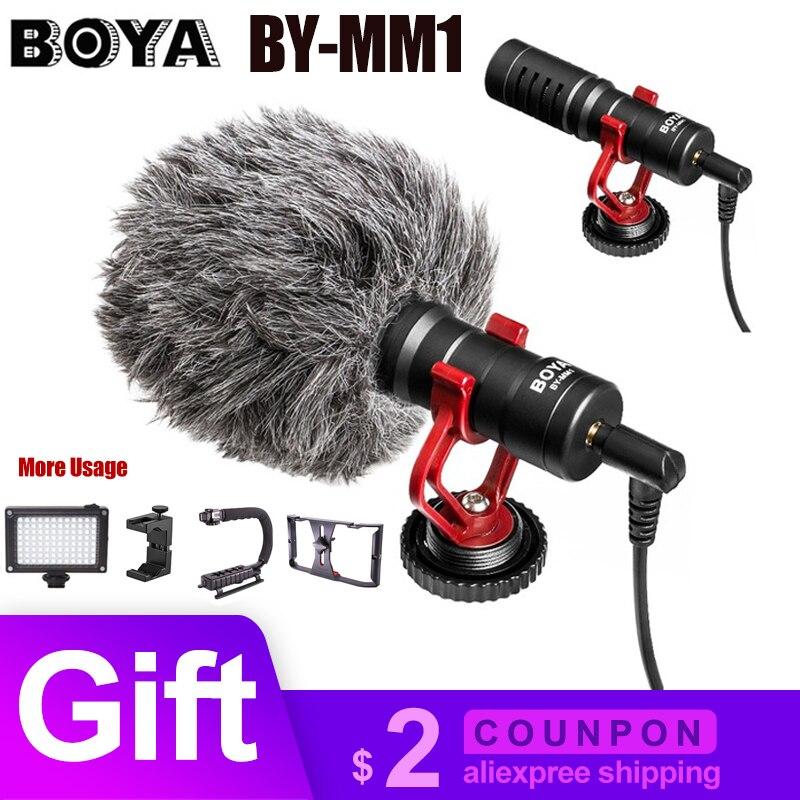 BOYA BY-MM1 микрофон на-записывающая видеокамера микрофон Микрофон для Xiaomi DJI Osmo карманная DSLR камера Canon iPhone PK Rode
