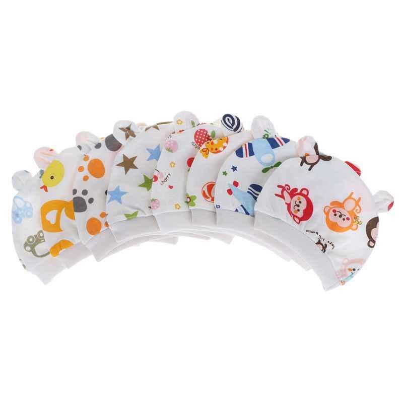 Czapka dla niemowląt rysunek przedstawiający kwiatek drukuj śliczne nowonarodzone chłopcy dziewczęta czapka Beanie ucho królika dekoracje ciepłe, jesienne wiosenne kapelusze dla dzieci