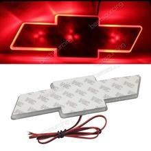 Красный/синий/белый Авто ВОДИТЬ автомобиль наклейка логотип свет эмблема Стикеры лампа для Chevrolet Cruze (CA018/ 44/49)