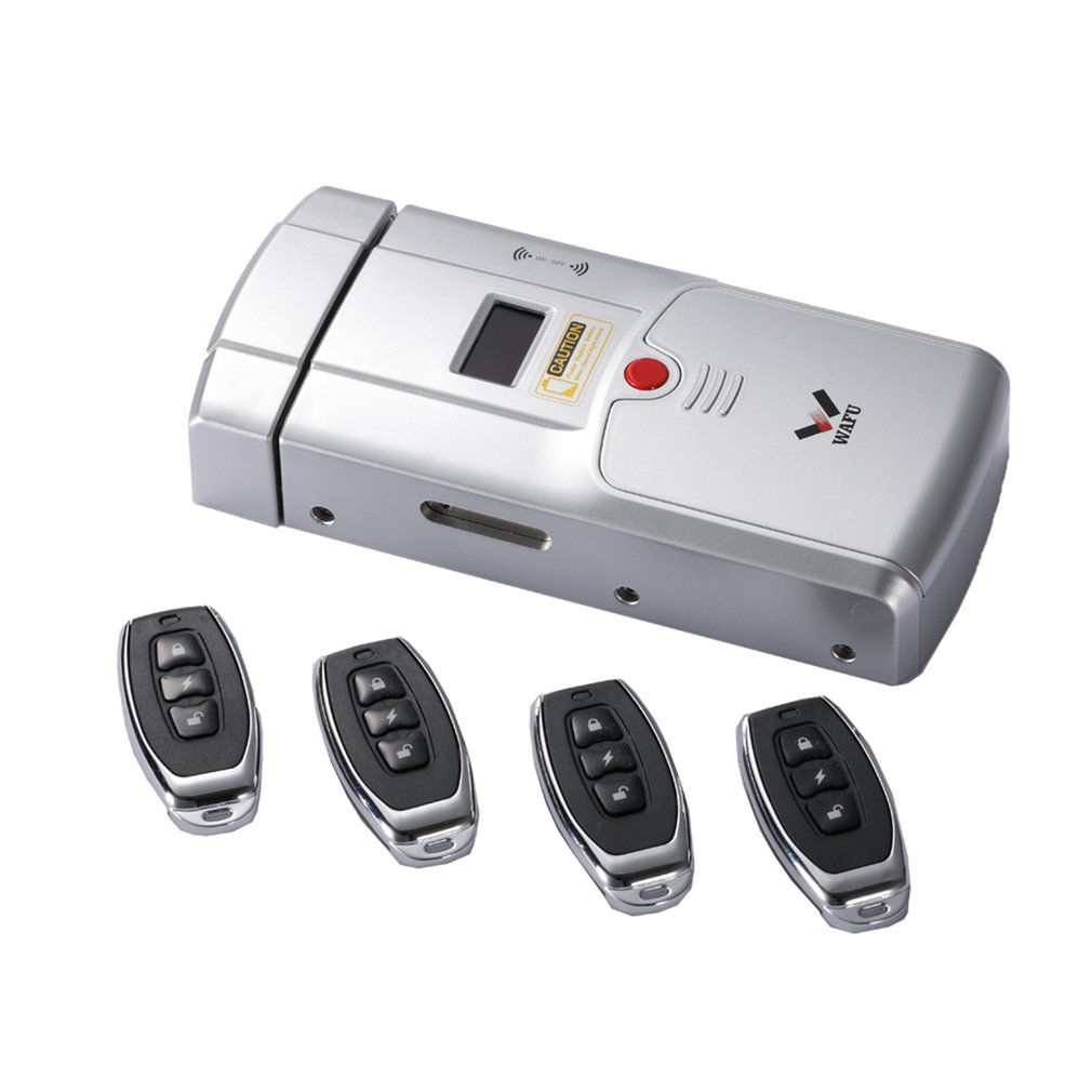 WAFU HF-011A serrure de porte intelligente Bluetooth activé serrure d'empreinte digitale et écran tactile sans clé pêne dormant avec alarme intégrée