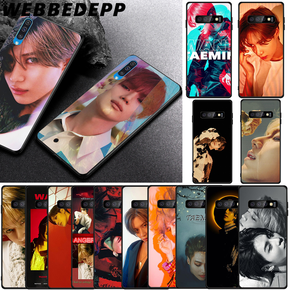 WEBBEDEPP KPOP SHINee Taemin Soft TPU Case for Samsung Galaxy S6 S7 Edge S8 S9 S10 Plus S10e