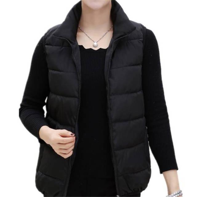 Oversized Warm Down Waistcoat Women Abajo Jackets Woman Plus Size Thick Down Vests Female Abajo Parkas Abajo Chaqueta Doudoune