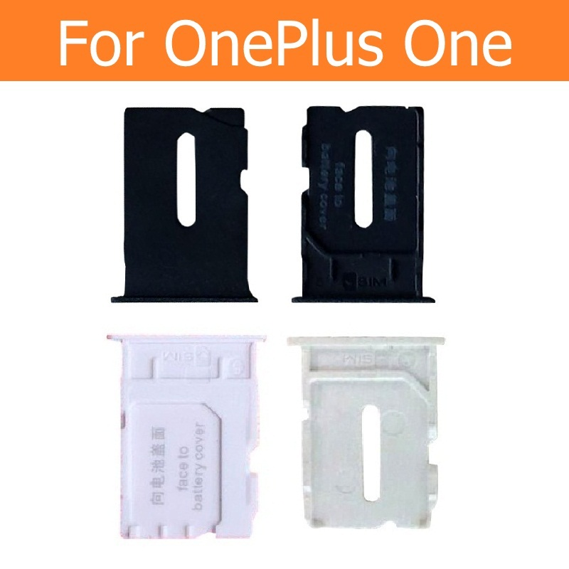 100% Genuine SIM Card Slot Holder For OnePlus One SIM Card Reader Slot Tray For 1+ A0001 A1000 A1001 SIM Connector Adapter Parts