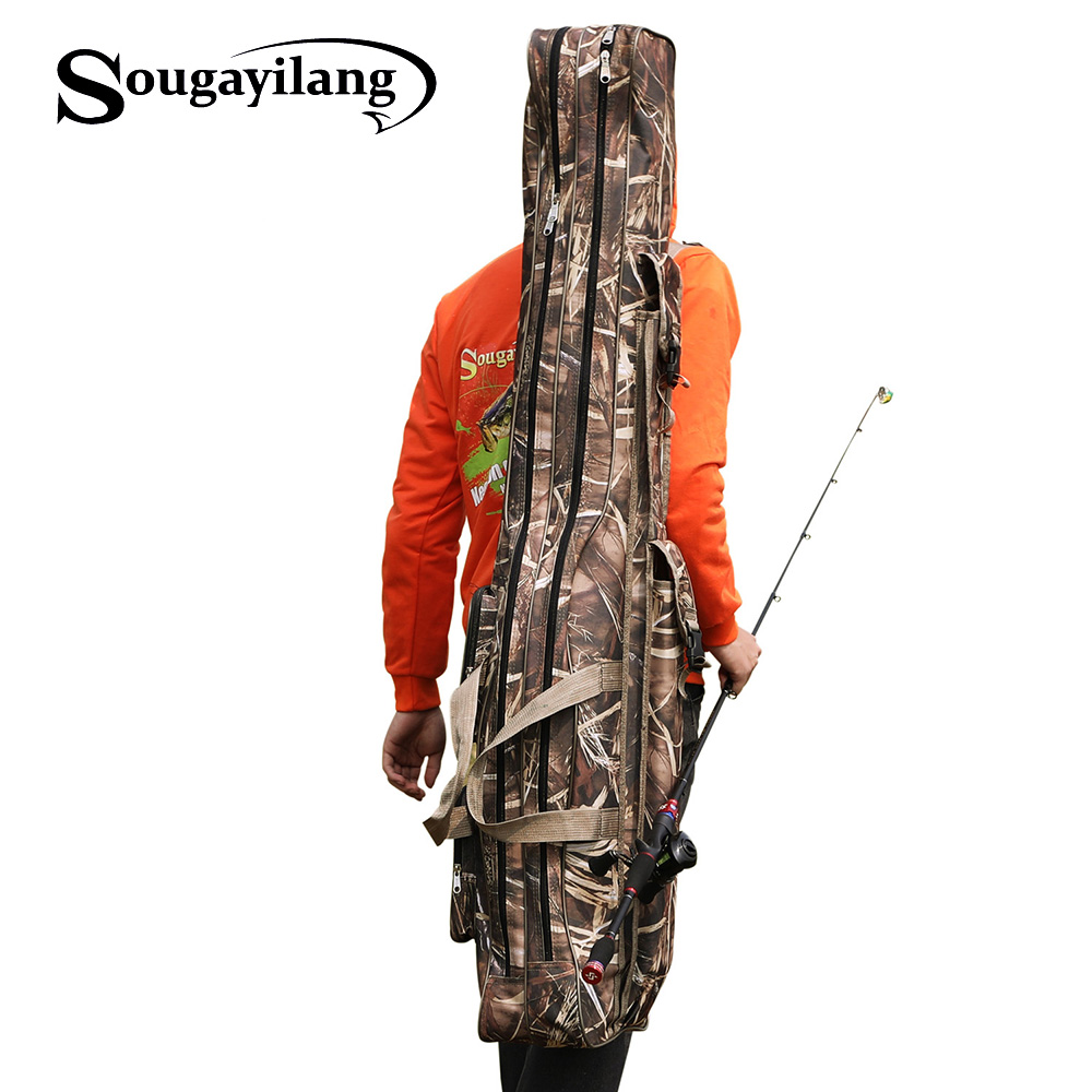 Sougayilang 80cm 130cm Portable Folding Fishing Rod Carrier Fishing Pole Tools Storage Bag Case Fishing Gear Fishing Accessories